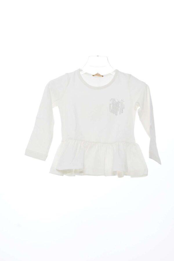 Classica T shirt firmata Liu Jo con simpatica balza sul fondo, adatta per qualsiasi occasione sia elegante che da tutti i giorni.