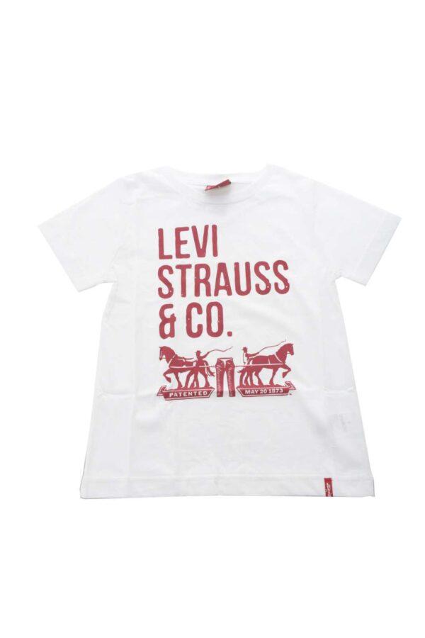 Una t shirt casual per eccellenza quella firmata dalla collection Levi's. Il quotidiano incontra lo stile per outfit perfetti in ogni occasione. Da abbinare con jeans o bermuda esprime l'essenza della moda junior.