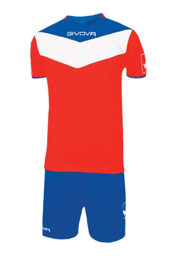 Crea il tuo completo da calcio perfetto con gli articoli creati da Givova. Una t shirt abbinata ai pantaloncini comoda e modaiola. Perfetta sia per utilizzo professionale che amatoriale, veste al meglio l'attività sportiva.