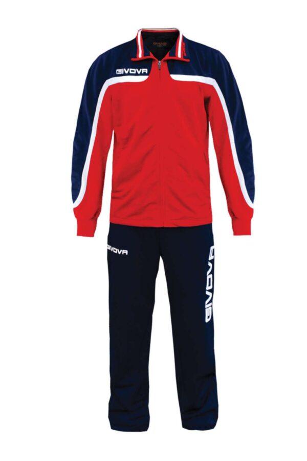 Una tuta sportiva, quella firmata dalla collezione Givova. Facile da indossare nelle giornate in cui si vuole andare a fare jogging o più semplicemente da utilizzare nella routine quotidiana.