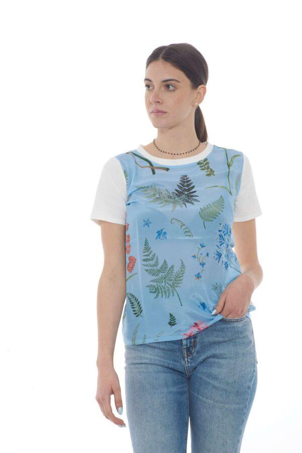 Una blusa a maniche corte con un prezioso inserto in seta la ALASKA firmata Weekend MaxMara. Da indossare con i look quotidiani è sinonimo di fascino e quotidianità. Da abbinare sia con pantaloni che con gonne, trasforma ogni outfit in un successo.