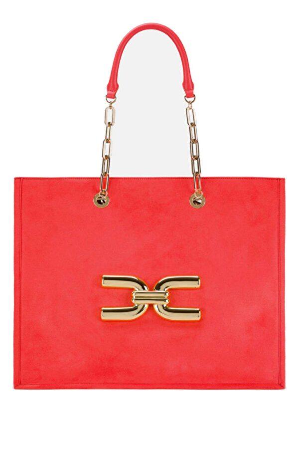 Un accessorio glamour e chic, la borsa shopping firmata Elisabetta Franchi. Perfetta per completare nel modo giusto i tuoi outfit più formali.