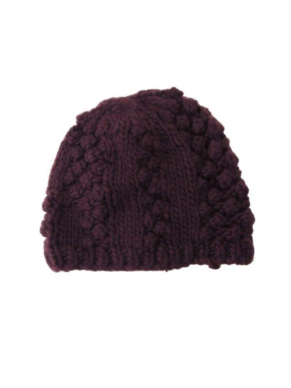 Berretto con lavorazione a maglia, monocromo.