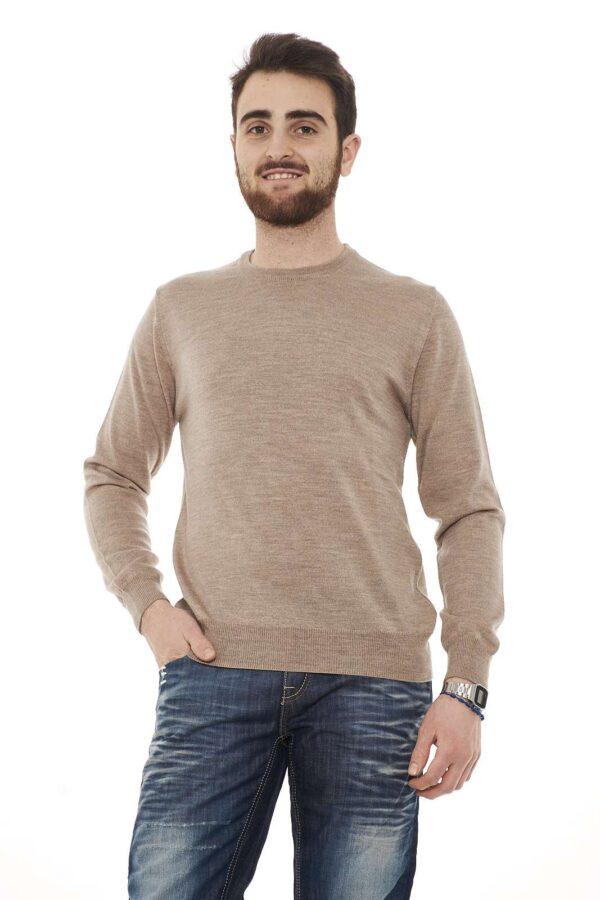 Maglioncino in lana vergine, semplice e classico, per un outfit ideale per il lavoro e al tempo libero.