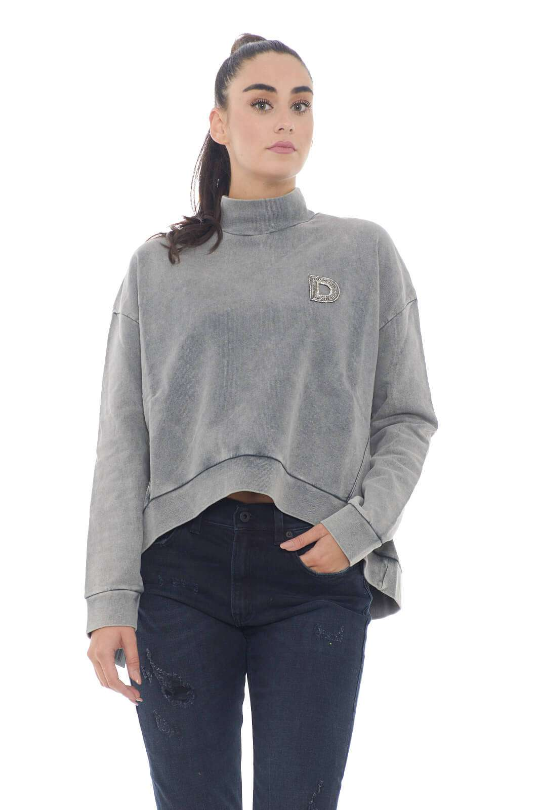 AI outlet parmax felpa donna Dondup F213 KF0136T A