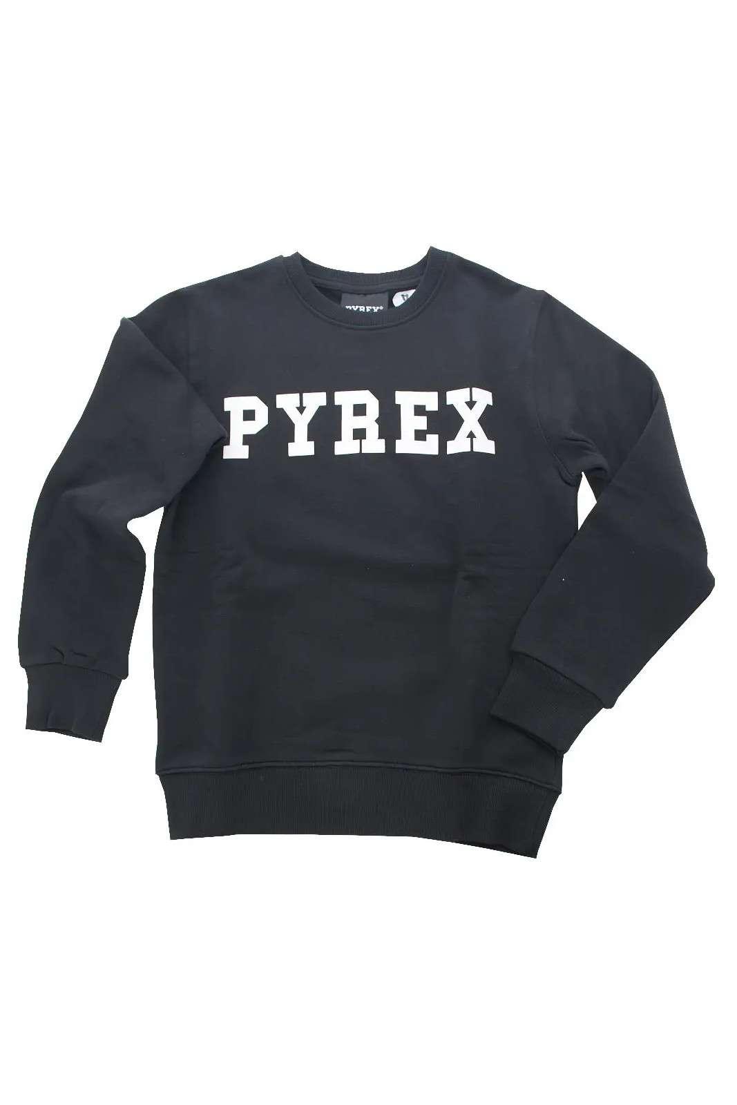 I nuovi arrivi Pyrex Kids ti stupiranno con l'iconica felpa da ragazza. La vestibilità regolare si impone su uno stile minimal, impreziosito dallo storico marchio stampato. Da indossare con pantaloni da jogging o con gonne, è sempre un essential.