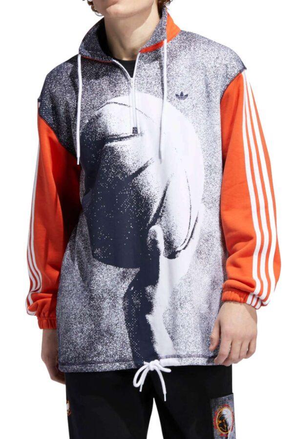 Scopri la nuova felpa Streetball firmata dalla collezione uomo Adidas.  Uno stile quotidiano per i look da sportwear più glamour.  Caratterizzata dalla vestibilità ampia e dai contrasti di colore dona un tocco speciale al proprio look.