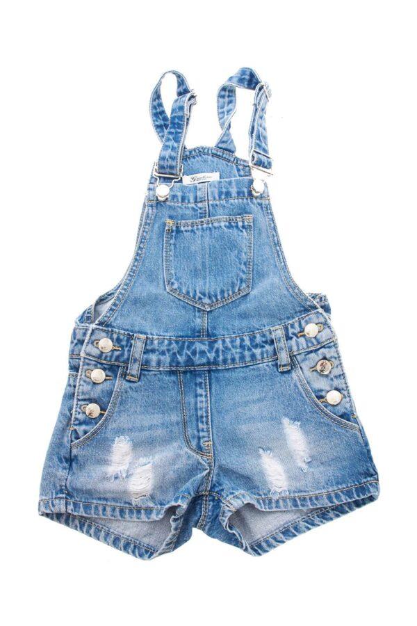 Una salopette di jeans firmata Gaialuna per bambine.  Da indossare nelle calde giornate estive è perfetta e ti darà una grande comodità.  Da abbinare ad una t shirt, renderà il tuo outfit unico.
