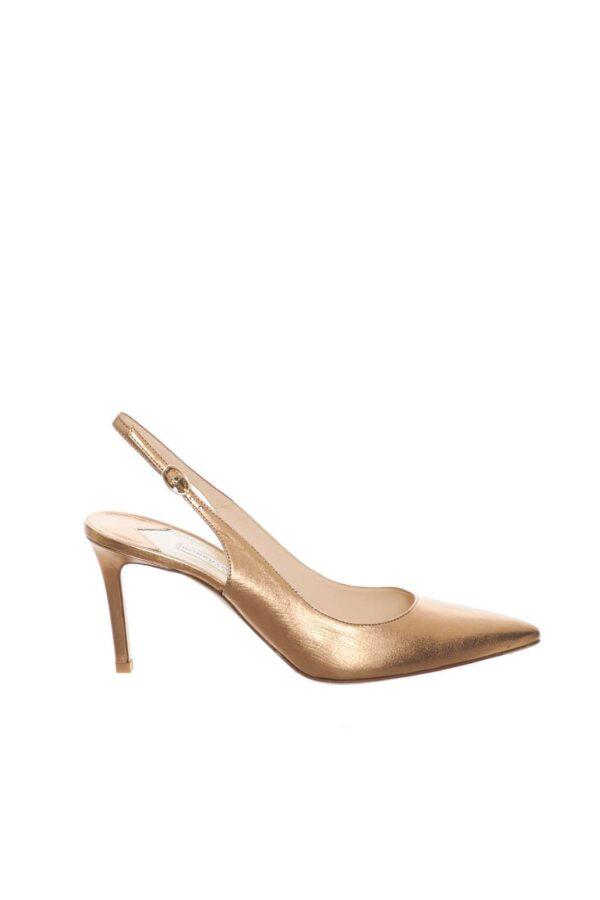 Un sandalo classico ed elegante, proposto da Roberto Festa, per completare con stile i tuoi outfit estivi. Il tacco a spillo assicura slancio alla silhouette, e non fa rinunciare a comfort e sicurezza. Per la donna che ama calzature versatili e sobrie.