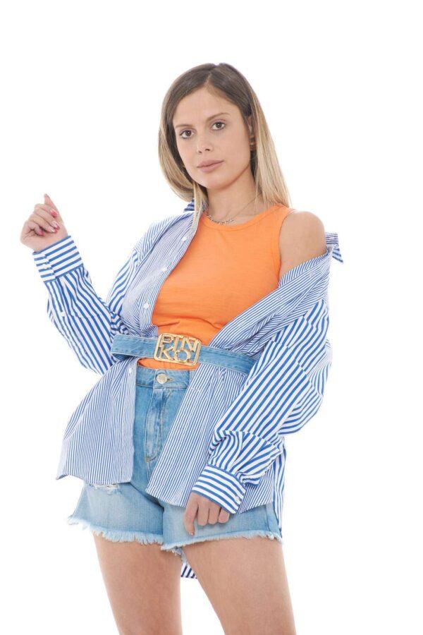 Scopri la nuova camicia modello Boyfriend firmata dalla collezione donna Polo Ralph Lauren. Da abbinare con ogni look, esprime un look fashion e versatile. La fantasia rigata e la vestibilità morbida la rende perfetta sia con un jeans che con uno short.