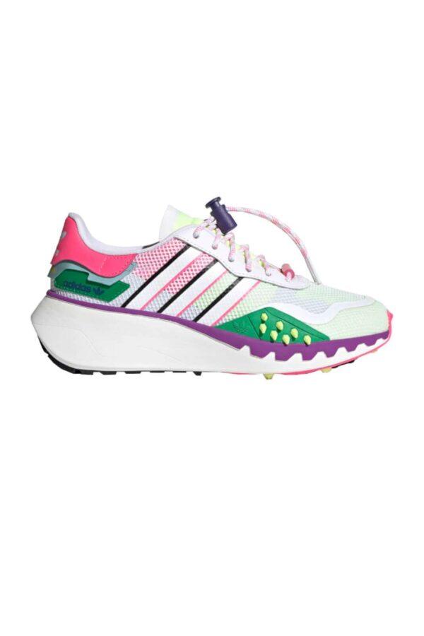 Una sneaker donna sportiva quella proposta dalla collezione Adidas 2021. Caratterizzata dalla suola in gomma chiodata e dal materiale in tessuto con mesh che la rende molto femminile. Da indossare per avere un look sportivo e colorato come nessun altro.