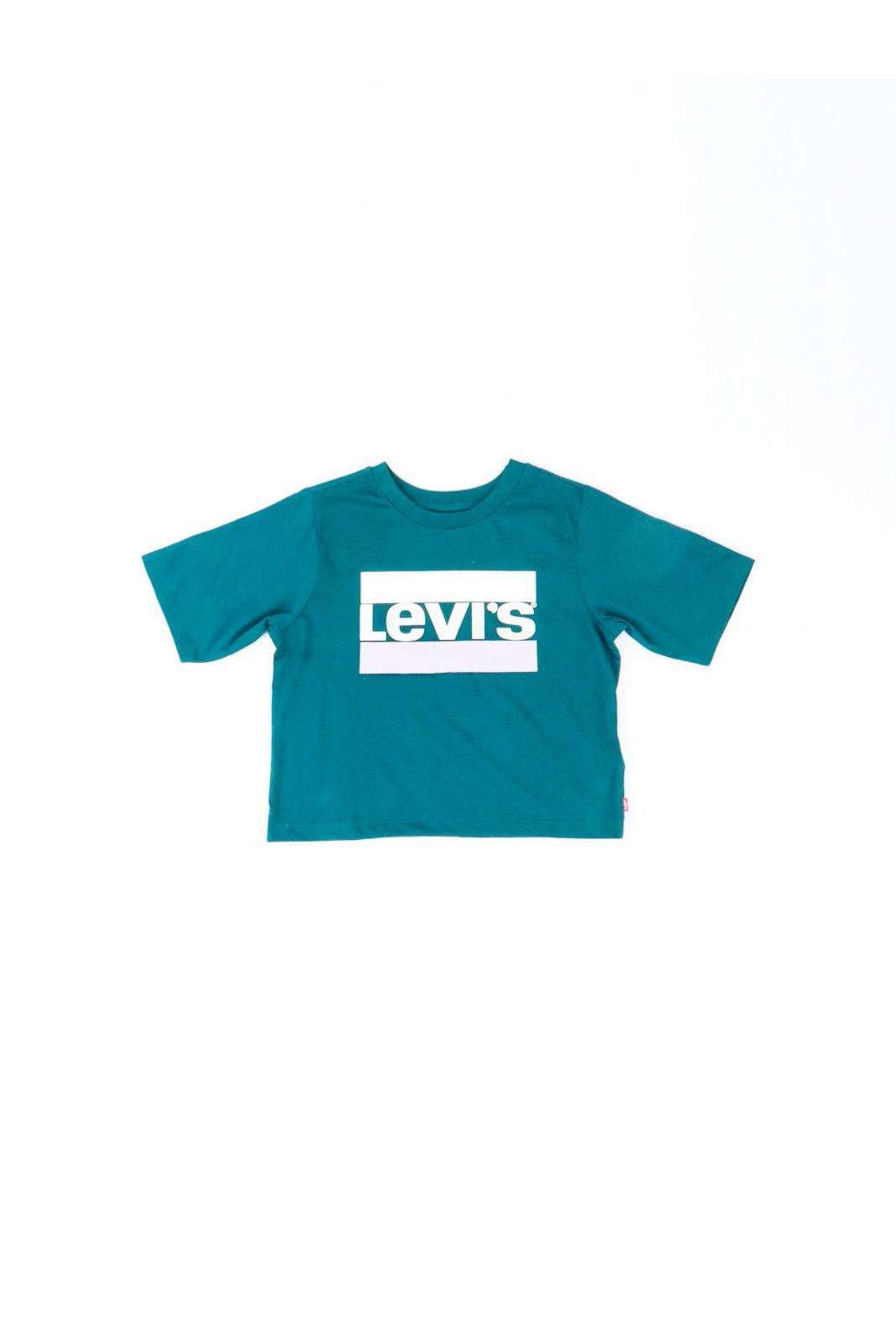 Alla moda, chic e iconica, la maglia HIGH RISE TEE di Levi's Kids. Il taglio crop, la rende perfetta per regalare un look fashion anche ai più piccoli.